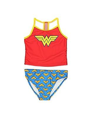 Wonder Woman Girls Swimwear Swimsuit (Toddler/Little Kid/Big Kid)