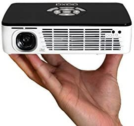 AAXA Technologies P300 Pico Projector with Rechargeable Battery - Native HD resolution with 500 LED Lumens, For Business, Home Theater, Travel and ...