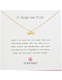 """Dogeared Reminders In Dogs We Trust Bone Charm Necklace, 18"""""""