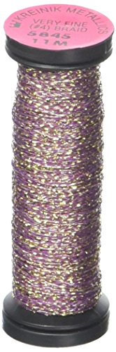 Kreinik No.4 Very Fine Metallic Braid, 12-Yard, Golden Cabernet