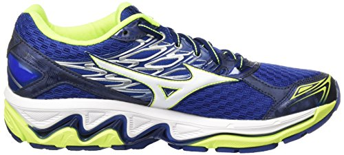 Gymnastique Chaussures Wave de Deptths White Safety Paradox Mizuno Blue 4 Homme Multicolore Yellow t1Xgtx
