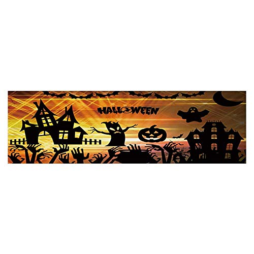 (Dragonhome Fish Tank Background Ultra high Definition Halloween PVC Aquarium Decorative Paper L35.4 x)
