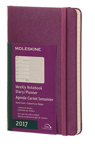 Moleskine 2017 Weekly Notebook, 12M, Pocket, Grape Violet, Hard Cover (3.5 x 5.5)