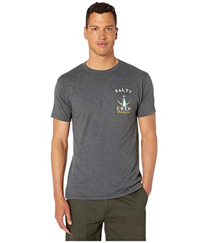 (Salty Crew Men's Tailed Short Sleeve Tee Charcoal Heather)