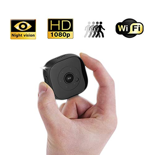 Mini Hidden Camera WiFi, 1080P DV DC Portable Mini Surveillance Camera with Night Vision and Multi- Function, Portable Body Camera with Loop Recording for Indoor Outdoor Use-Black