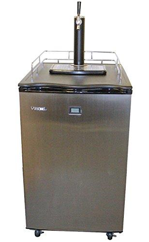 Versonel VSL155TDSS Freestanding Full Keg Kegerator Beer Fridge Dispenser LCD Temp, Black/Stainless Steel (Fridge For Kegerator compare prices)