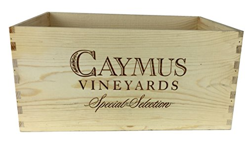 Caymus Wine Crate - 6 Bottle Decorative Wooden Wine Box For Wine Country Home Decor Wedding Decor Storage Organization DIY Projects Gift Box Garden Planter Box