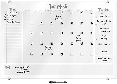 Organiser PLANNER PRINT Download /& Print Reusable Dry Erase Weekly Planner Command Centre Whiteboard