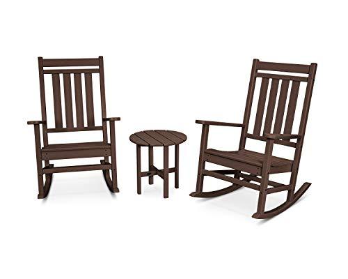 POLYWOOD Plantation Rocking Chair Set, Mahogany