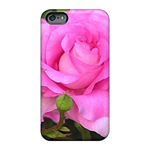 Casesbest88 Apple Iphone 6 Plus Shock-Absorbing Cell-phone Hard Covers Allow Personal Design Trendy Pink Tea Rose Image [oyr332gQQg]