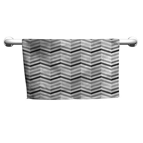 Personalized Hand Towels Geometric,Zigzag Folding Effect,Body Towel Wraps for Women