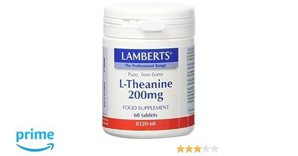 Lamberts L Theanine 200mg - 60 Tabletas: Amazon.es: Salud y cuidado personal