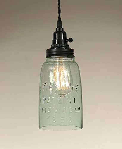 Half Gallon Open Bottom Mason Jar Pendant Lamp by Colonial Tin Works