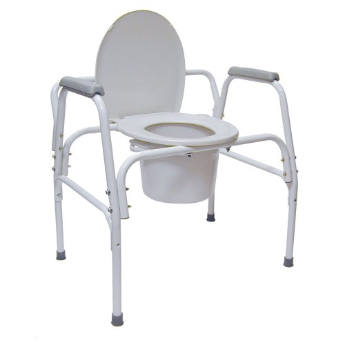 Bedside Commode Extra Wide Steel - 5