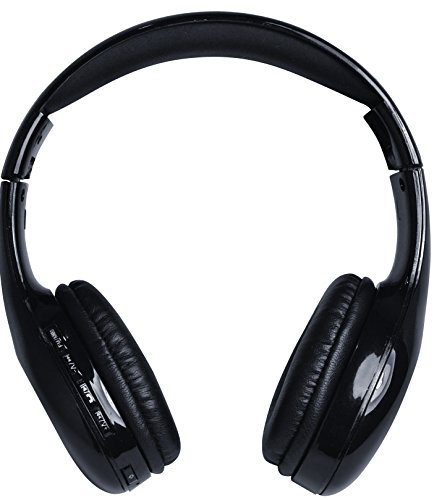 Coby CHBT-705-BLK Scope Wireless Stereo Bluetooth Headphones, Black
