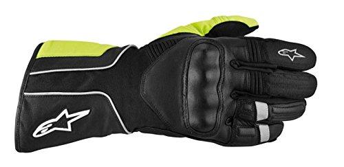 Alpinestars Overland Drystar Men's Waterproof On-Road Racing Motorcycle Gloves - Black/Yellow / 3X-Large