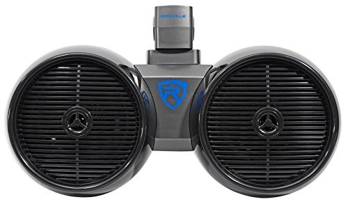 "Rockville DWB80B Dual 8"" Black 800 Watt Marine Wakeboard Tower Speaker System"