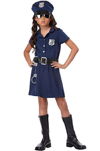 For Zombie Costume Cop Kids (Police Officer Girl Patrol Cop Dress Child)