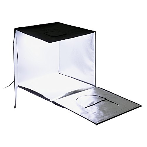 Fotodiox Pro LED 24x24 Studio-in-a-Box for Table Top Photography - Includes Light Tent; Integrated LED Lights; Carrying case and Four backdrops