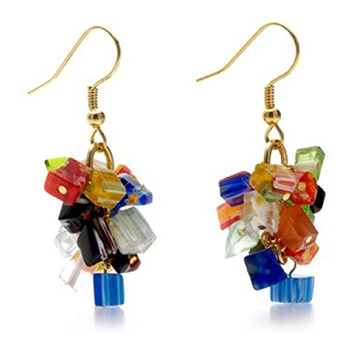 Murano Glass Millefiori Earrings 'Mystique Of Venice' Pricegems Museum Store Blue Murano Glass Earrings