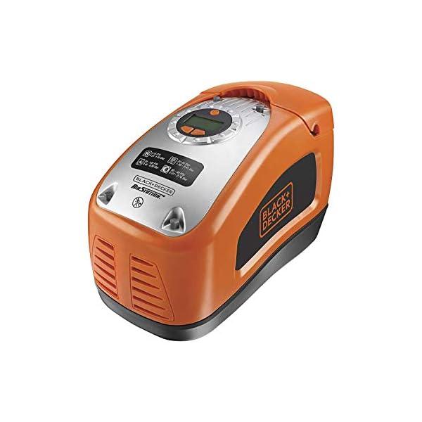 Black+Decker ASI300-QS – Compresor de aire, 160 PSI, 11 bar, Fuente de alimentación: Cable eléctrico, Rojo/Negro