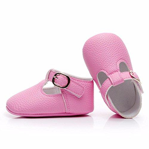 Clode® Baby Kleinkindkinder neugeborene nette feste Mädchen-Jungen weiche alleinige Schuhe Rosa