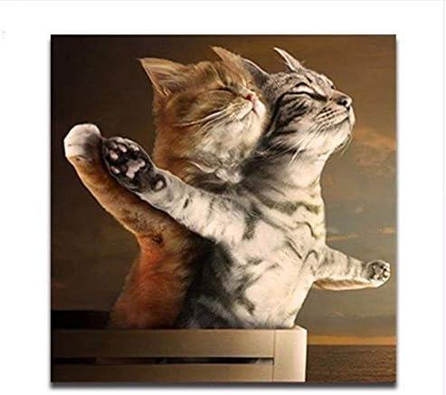 Sin Marco Diy Colorear Por Números Lindo Gato Pinturas Digitales Por Números Dibujos Animados Animal Gato Romántico Amor Imagen Pinta Por Números 40X50Cm: Amazon.es: Hogar