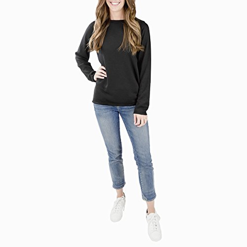 EmiJay Inc Womens Smoosh Sweatshirt Large/Xlarge Black by EmiJay Inc (Image #2)
