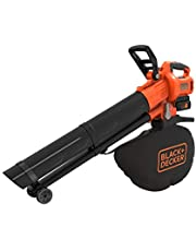 Black+Decker BCBLV3625L1 Accu-bladzuiger/bladblazer met hakselaar, 45 l opvangzak, borstelloze motor, 210 km/u luchtsnelheid en hoog zuigvermogen - 36 V, incl. accu en oplader)
