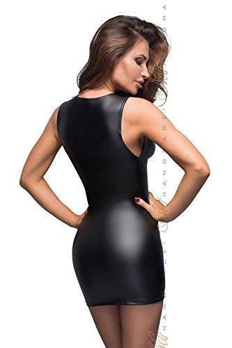 Gogo Kleid Erotisches Mini Spitze mit Schwarz Kleid Damen Schwarzes Dessous aus Lederimitat Fetisch IwHdWRwzqf