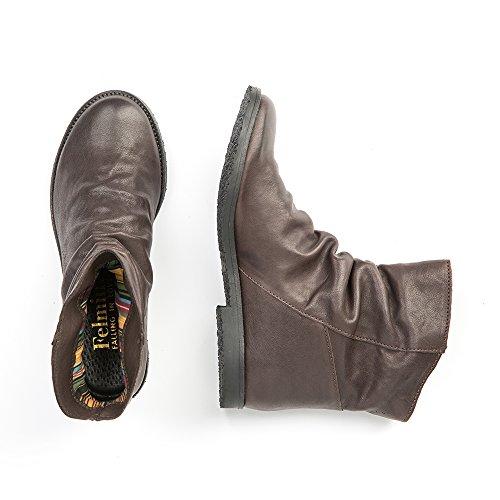 Felmini - Zapatos para Mujer - Enamorarse con Clash 9071 - Botines Cowboy & Biker - Genuine Cuero - Marrón - 0 EU Size