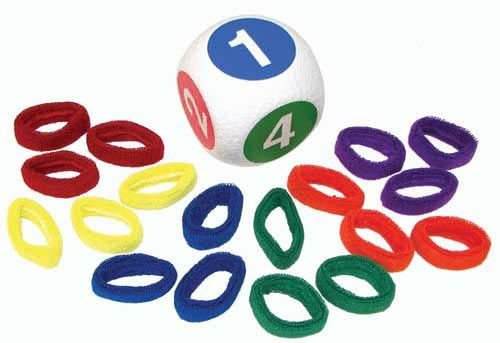 Pull Buoy Rehabilitation Advantage Scatterball Game with 18 Color-Coded Wristbands & 1 Foam Scatterball