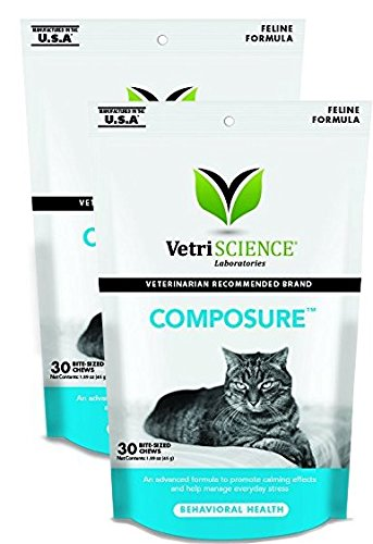 Vetri Science Composure (Vetri-Science Composure Feline Bite-Sized Chews, 2 Packs of 30, 60 Total Count)