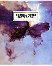 Cornell Notes Notebook: Cute Nebula Cornell Note Paper Notebook. Nifty Large College Ruled Medium Lined Journal Note Taking System for School and University - Funky Stars & Galaxy Print