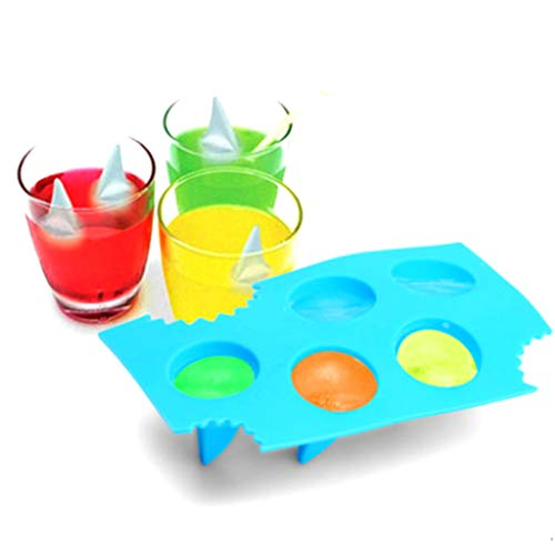 (Summer Party Ice Cube Chocolate Mold, Wulofs♥ Creative Home Cake Chocolate Silicone Mold, funny Shark tail)