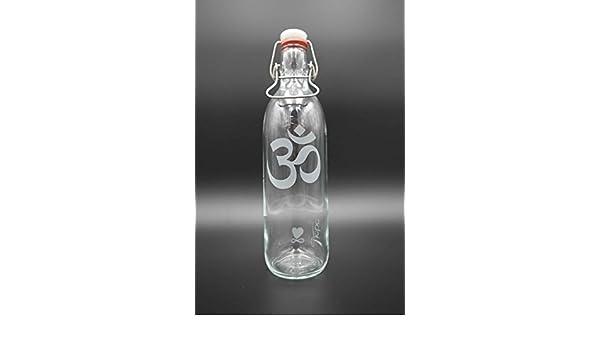 Freiglas Libre de cristal botella 1l 100% plastikfrei Om & amor: Amazon.es: Deportes y aire libre