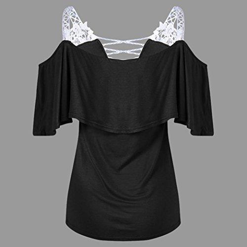 Col V Gilet t Sexyville T Noir Femme Dbardeur Dentelle Chemisier Mode Vest Sexy Tops Shirt pissure qFXRafIw