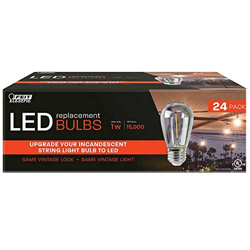 Evaxo FEIT LED Replacement String Light Bulbs 24-Pack