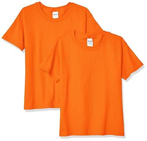 - Gildan Kids' Big Heavy Cotton Youth T-Shirt, 2-Pack, Orange, Small