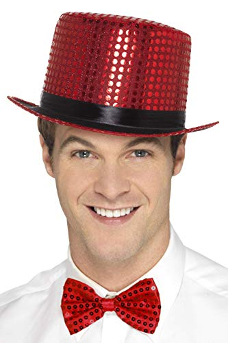 Smiffys 48261 Sequin Top Hat (One Size)