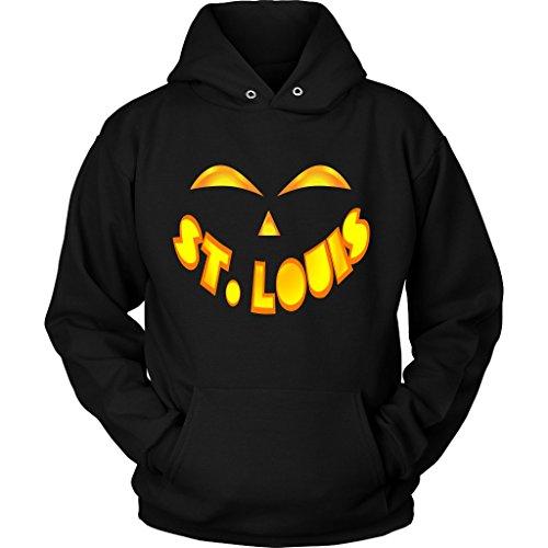 St. Louis Jack O' Lantern Pumpkin Face Halloween Costume Hoodie, Large