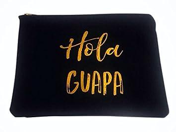 Amazoncom Hola Guapa Travel Makeup Bag Beauty