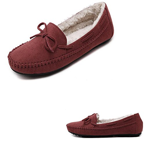 Shoes Outdoor Orange Flat Shoes Boat Ladies on Casual Women's Loafers Slip ZongSen Moccasin 1vOq07x