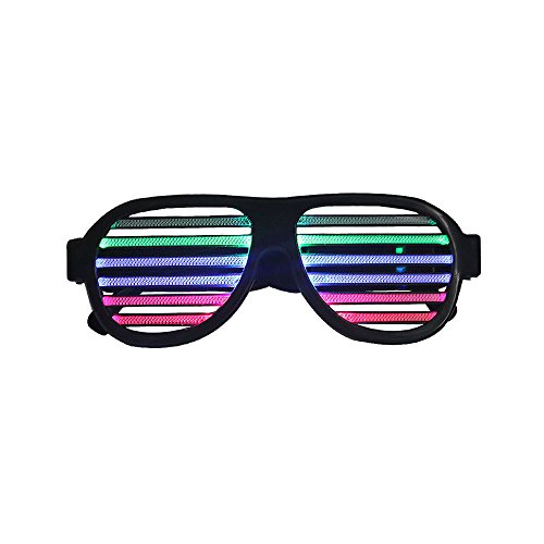 LED Shutters Glasses with Voice Controlling Led Flashing Sound & Music Reactive LED Glasses