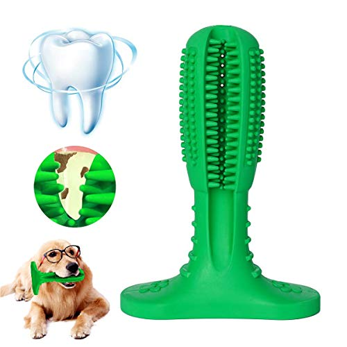 Dog Toothbrush Cleaning Stick – Puppy Dental Care – Non-toxic Natural Rubber Bite Resistant Funny Puppy Chew Toys