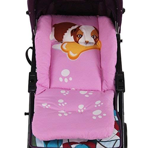 Lori Lovely Cartoon Animal Baby Kids Seat Toddler Pushchair Stroller Warm Cushion Pad - Pink Dog Quner