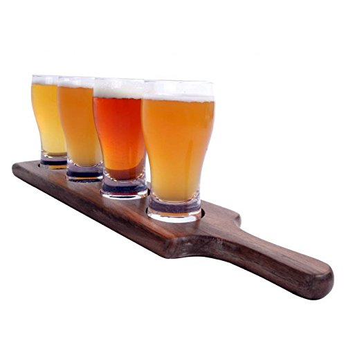 The Beer Tasting Flight Tray by Alcraft Designed & Engineered For Professional Bars, Brewpubs and Breweries Includes 17