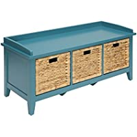 ACME Flavius Teal Bench with Storage