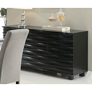 coaster stanton contemporary buffet server in. Black Bedroom Furniture Sets. Home Design Ideas