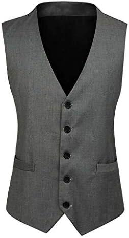 QIQIDEDIAN 釣りベスト ベスト秋のメンズスーツのベストダブルブレストスリムフィットメンズスーツのスーツベストベスト (Color : Dark gray, Size : 5XL)